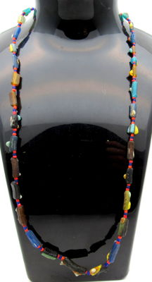 Ancient Glass beaded necklace - Wearable Gift - 440 mm