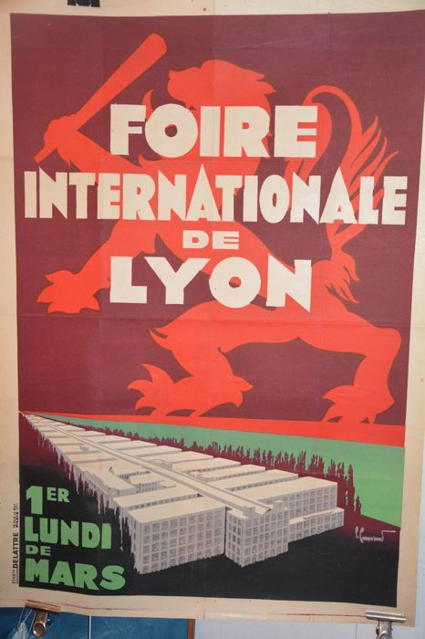 Anonymous foire internationale de lyon jaren 1930 catawiki - Foire internationale de lyon ...