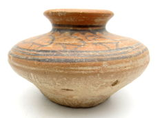 Indus Valley Painted and Terracotta Jar depicting Deer -  128x78 mm