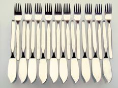20-piece fish cutlery for 10 people - Bauhaus - Wagenfeld style / Art Deco
