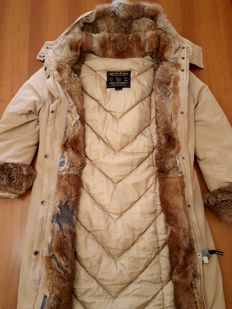 Woolrich - Women's quilted coat with genuine eiderdown and rabbit fur -  Made in USA