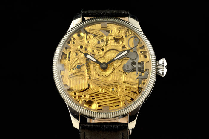 Omega - Skeleton With Hand Engraved Decoration - Homem - 1901-1949