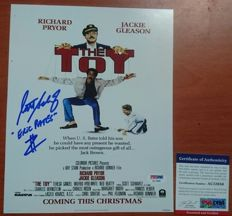 8x10-inch movie poster, from the movie The Toy starring Richard Pryor and Jackie Gleason with Scott Schwartz signature and PSA / DNA certificate of authenticity