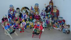 Large collection of 99 clowns