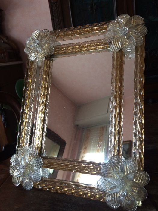 Murano Vintage Decorated Table Wall Mirror Catawiki