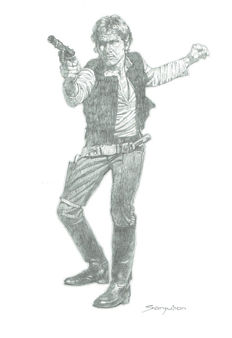 Han Solo By Sanjulian - Original Drawing