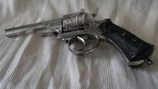 Very large pin fire revolver civilian luxury in calibre (9mm), in great condition with leather holster