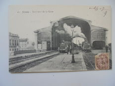 set of 60 cards on the theme of stations and railway