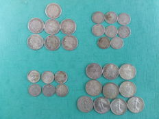 France - Lot of 31 coins (50 Centimes to 1 Franc) 1871/1917 - Silver