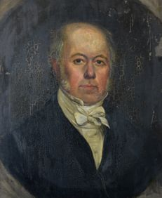 English school (19th century) A portrait of a gentleman
