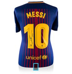 Lionel Messi personally signed FC Barcelona 2017/18 shirt + official COA