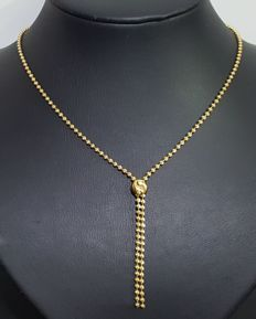 Balls choker (Yuyu) in 18 kt gold, measuring 42 cm (+ 6 cm) and weighing
