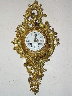 Bronze - Gold plated - Wall Cartel - AD. Mougin - France - second half 1800s