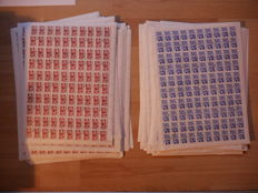 Soviet Union 1966 - sheets with Michel 3285, 3286 - 80 sheets, 8000 stamps