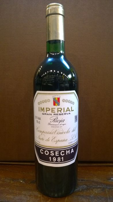 1981 Imperial Gran Reserva CVNE, Rioja - 1 bottle (75 cl)