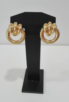 Earrings in 19.25kt gold (800) – Weight: 3.46g – Size: 16.94mm