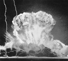 Unknown/Associated Press -  Mushroom cloud formation after the denotation of an atomic bomb in Yucca flat in Nevada, 1953