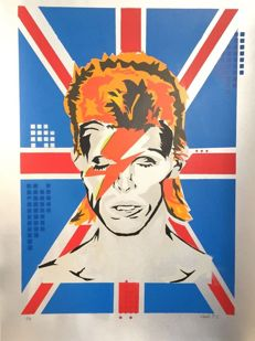 "Cenk T.C - ""Union Jack Star - David Bowie"" (silver)"