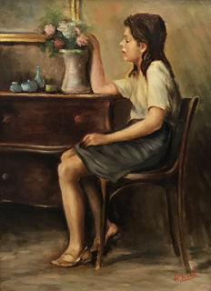 Unknown artist (20th century) - Scena d'interno
