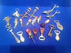 Lot of openers and bottle stops