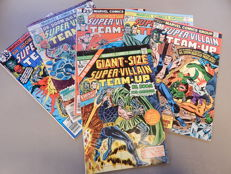 Marvel Comics - Super-Villain Team-Up #1 + 2 + 7 + 12 + 15 + Giant-Size #1 - 6x sc - (1975-1977)