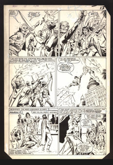 DC Comics inc. Original page of the Arak series - 1980s