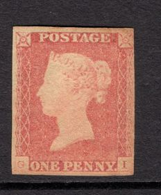 Great Britain Queen Victoria - 1841 1d lake red, Stanley Gibbons 11