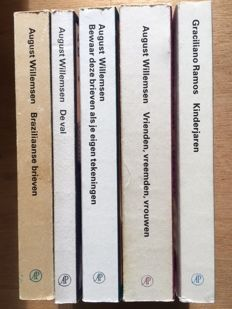 Privé-domein; Lot with 5 publications by August Willemsen – 1985/2016