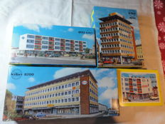 Kibri H0 - 8200/8210/8211/8213 - 4 high-rise office building kits in the 1950s style
