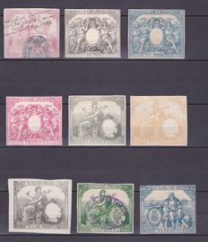 Spain 1839/1945 - Collection with fiscal stamps, stamps and policies