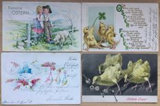 Lot consisting of 120  Easter cards - very beautiful collection