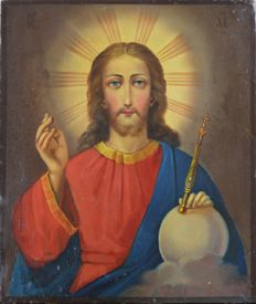 Russian school (19th century-) A portrait of Jesus