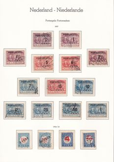 The Netherlands 1870/1958 - Collection Postage Due, Official and Internment
