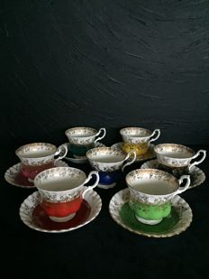 Royal Albert, 7 cups and saucers Regal Teaset