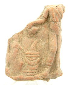 Ancient Roman Ceramic Seal - A Standing Figure - 67mm