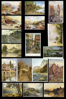 Collection of 52 Idyllic postcards-Landscapes