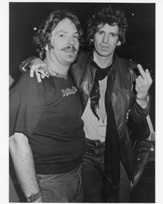 Unknown/London Features International - Keith Richards & unknown, c.1980