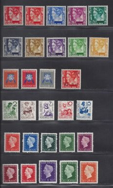 Dutch East Indies 1934–1948 - Various issues - NVPH 195/204, 273, 290/292, 293/297 and 337/346