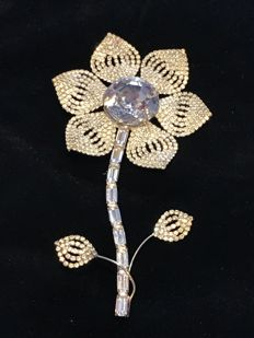 massive rare vintage early Butler and Wilson Passion flower statement brooch