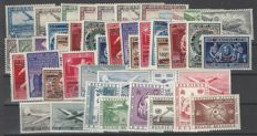 Belgium - Airmail stamps OBP numbers PA1 to PA35, complete except for numbers PA10A and PA11A