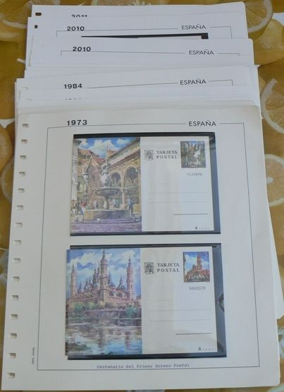 Spain 1973/2011 - Complete Collection of Postcards and Aerograms in Edifil sheets