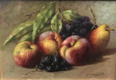 Unknown artist (20th century) - Natura morta con frutta