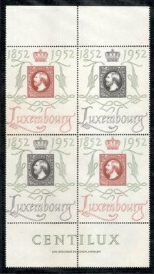Luxembourg 1923/1956 - collection of blocks of four and blocks