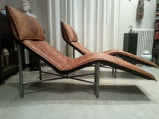 "Tord Bjorklund for Ikea – Leather chaise longue ""Skye"" (2x)"