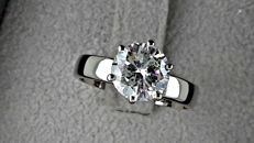 2.01 ct Round Diamond Ring made of 18 kt white gold *** NO RESERVE PRICE ***