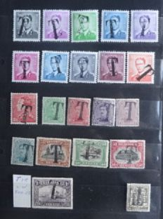Belgium - Composition of tax stamps - stamps with cancellation 'T'