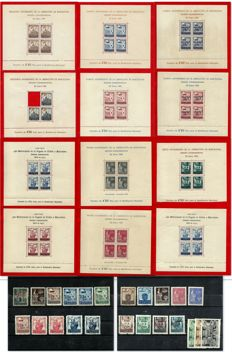 Barcelona 1939/1945 - Lot of 12 minisheets and 23 stamps