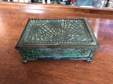 Tiffany Studios - Pineneedle Favrile Desk Box