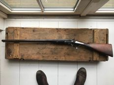 Antique English hunting rifle, 19th century Cal. 12 Birmingham