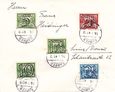 The Netherlands 1941 - series of lattice stamps on 6 envelopes